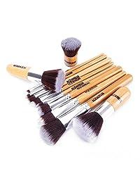 WIMKEN 11pcs Professional Makeup Cosmetic Brush Set Foundation Powder Bamboo Brush with Bag