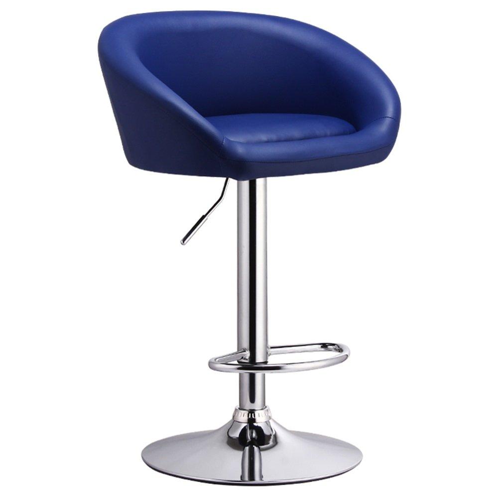 カウンターチェア高いスツールバーキッチン朝食ダイニングチェアは、上下に昇降できる/ビジネスやビジネスのためのビジネスホールの椅子を回すことができます (色 : 青) B07DK3K7ZS 青 青