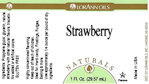 LorAnn Oils Natural Strawberry 4 Ounce Food Flavoring