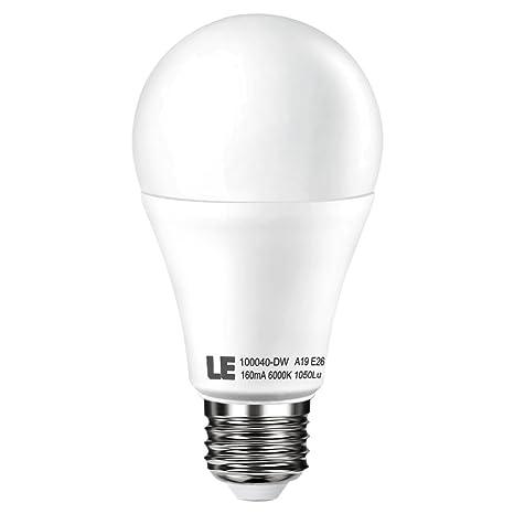 LE Bombilla LED 12W E27, Más brillante Equivalente 75W bombillas incandescentes, Blanco Diurno,