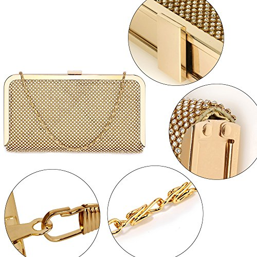 Bag For Bags Racing Clutch Women's Evening Diamante Gold Wedding Party qtEpT