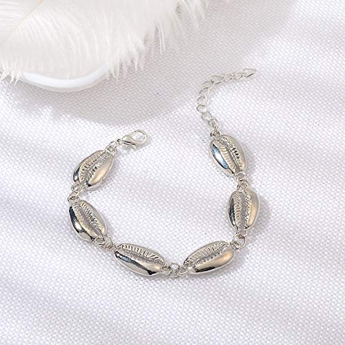 - FOKLC Bracelet Handmade Weave Shell Heart Long Tassel Bracelet Women Grey Rope Chain Bracelets Jewelry Gift