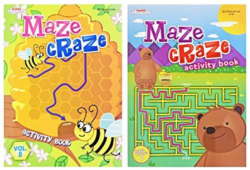 Maze Craze Activity Book Set! 2 Amazing Maze