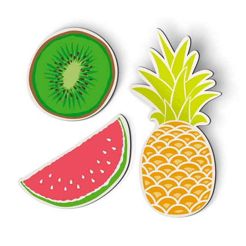 AK Wall Art Fruits Set of 3 Pineapple Watermelon Kiwi Juicy - Magnets - Car Fridge Locker - Select Size (Magnets Watermelon)