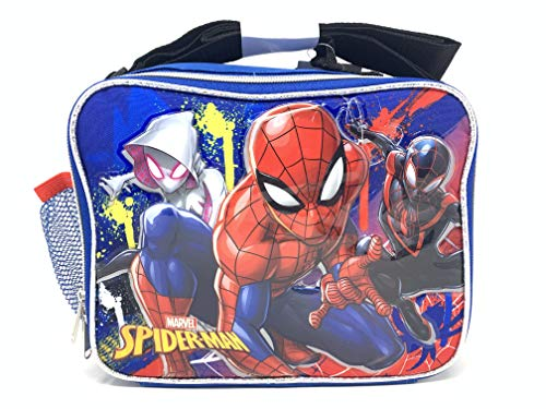 Marvel Spiderman Soft Rectangle Lunch Bag with Top Handle and Shoulder Strap]()
