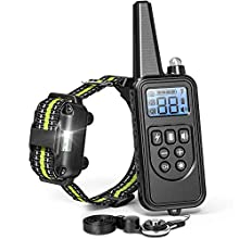 FunniPets Dog Training Collar, Dog Shock Collar with Remote 2600ft Range Waterproof Shock Collar for Dogs with 4 Training Modes Light Static Shock Vibration Beep