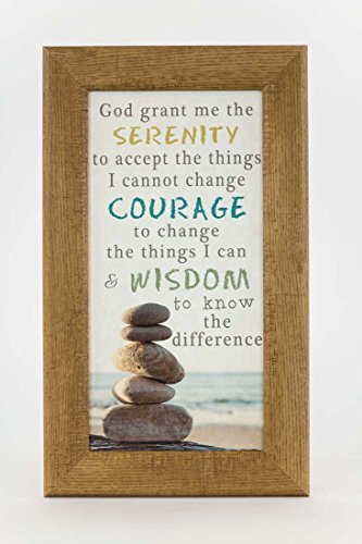 Summer Snow God Grant Me The Serenity Prayer Beach Ocean Sea Rocks Decor Framed Art Picture -