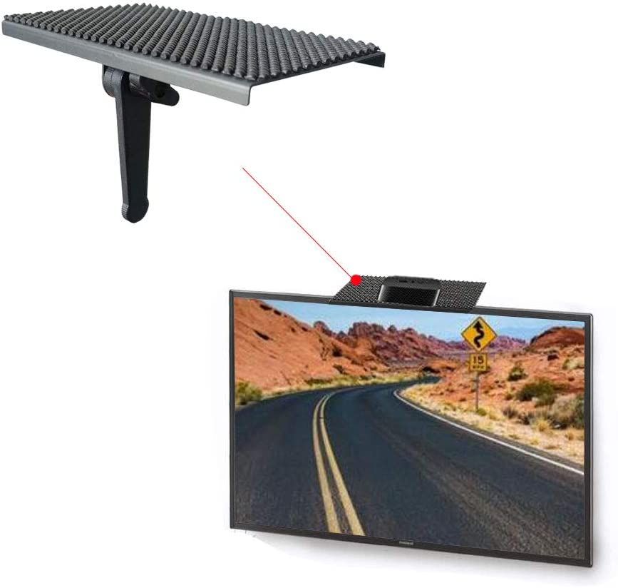 TV Top Shelf Wide Platform Solid Screen Shelf Adjustable Mount Desktop PC Monitor with 8 inch Wide Platform,for Streaming Devices,Apple TV, Media Boxes, Speakers and Home Decor (Size-1)