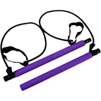 freneci Pilates Bar Kit Gym Workout Weerstand Band Buis Oefening Stick Sterkte Trainer - Paars, 100cm