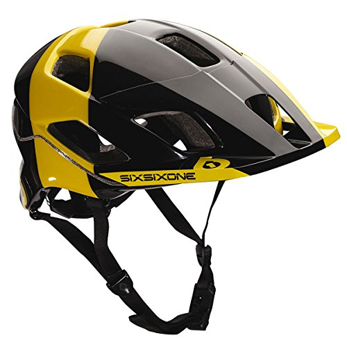 661 SixSixOne Evo Am Tres MTB Bicycle Helmet (CPSC) - BLACK/YELLOW - Medium/Large (M/L) ()