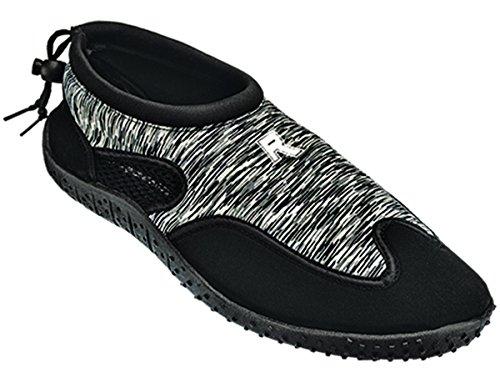 Cambridge Select Womens Slip-on Closed Toe Quick Dry Mesh Non-Slip Drawstring Water Shoe Black/Grey A379J3xEK3