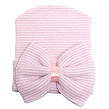 Baby Bonnet Hospital Hat With Bow Newborn Infant Gift