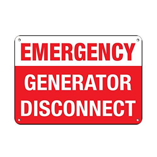 Emergency Generator Disconnect Hazard Sign Hazard Labels Vinyl Sticker Decal 8'