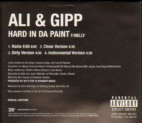 Tough In Da Paint by Ali & Gipp featuring Nelly