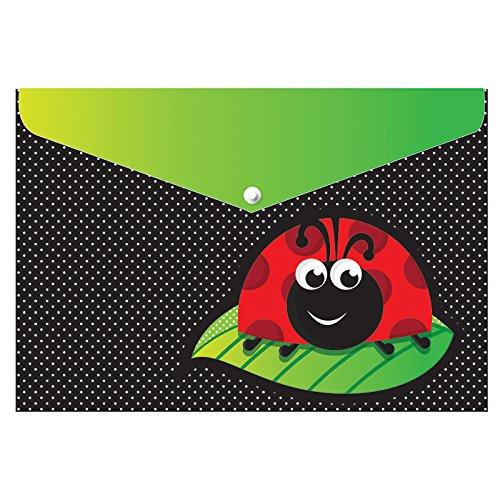 Ashley Productions Ladybug Design Poly Folder with Snap, 9.5
