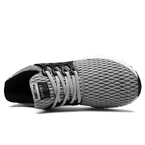 JINDENG Herren Damen Laufschuhe Sportschuhe Flexible Casual Sportschuhe Fashion Walking Sneakers Grau