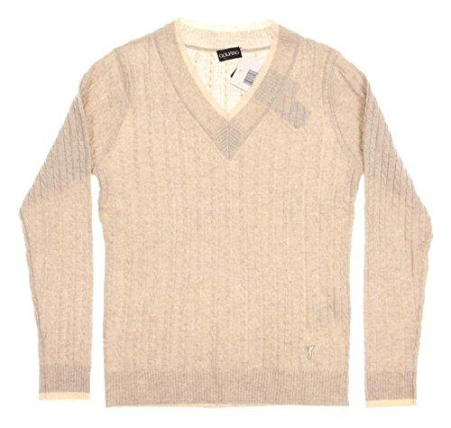 new-womens-golfino-tan-sweater-small-s-cream