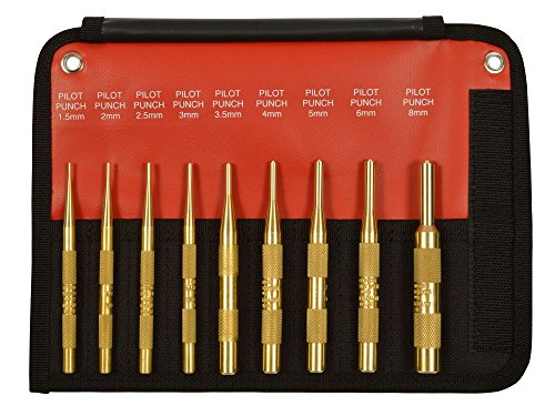 Mayhew Tools 61388 9 Piece Brass Pilot Punch Set