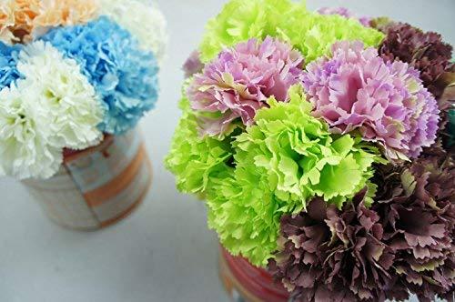 Lily-Garden-12-Stems-Artificial-Carnation-Flower-Silk-Bouquet-Green