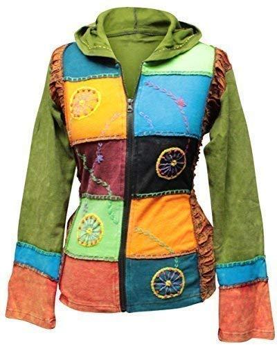 Shopoholic De Moda Para Dama Multicolor Rueda Bordado Hippie Chaqueta Boho Suéter: Amazon.es: Ropa y accesorios