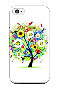 Iphone 4/4s Case, Premium Protective Case With Awesome Look - Colorful Tree
