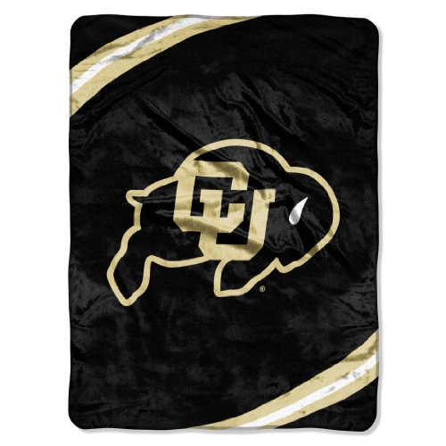 Fleece Colorado - NCAA Colorado Buffaloes Force Royal Plush Raschel Throw Blanket, 60x80-Inch