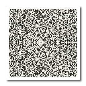 ht_101085_2 Florene Décor II - Thin Small Scale Black n White Zebra Print - Iron on Heat Transfers - 6x6 Iron on Heat Transfer for White Material