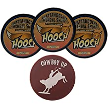 Hooch Peach Rough Herbal Chew - 3 Can - Includes DC Skin Can Cover (Cowboy Skin)