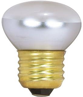 Satco S3601 120V Stubby 25-Watt R14 Light Bulb, Clear