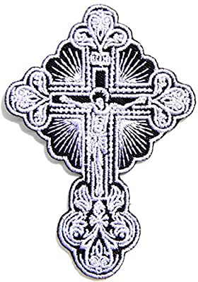 Cross Jesus Christian God Biker Lady Rider Hippie Punk Rock Heavy Metal Tatoo Jacket T-shirt Patch Sew Iron on Embroidered Sign Badge
