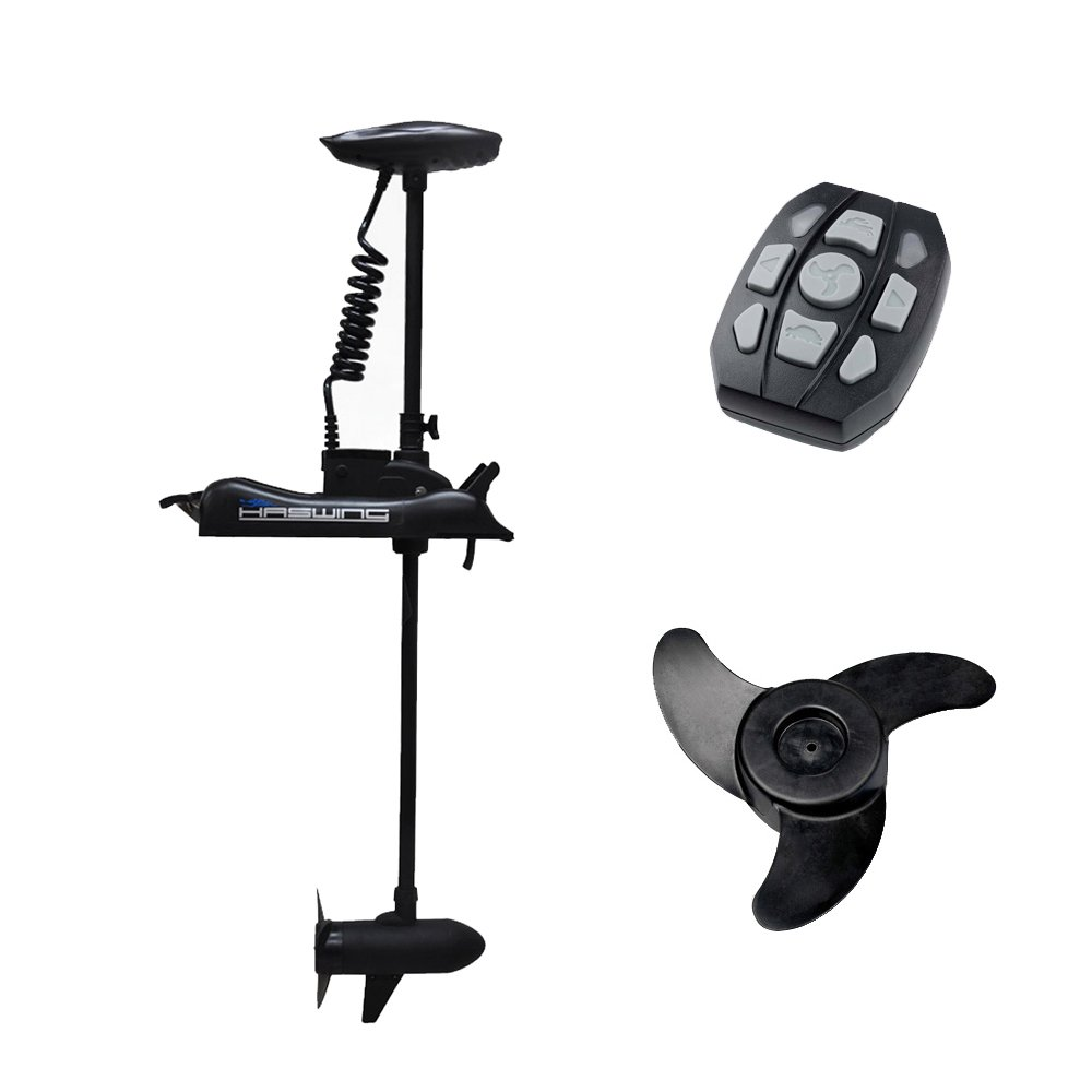Haswing Cayman 12v 55lbs Bow Mount Electric Trolling Motor