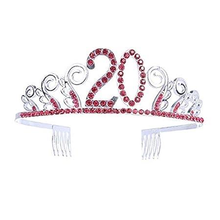 Aprilfun cumpleaños Coronas Rhinestone cumpleaños Tiara ...