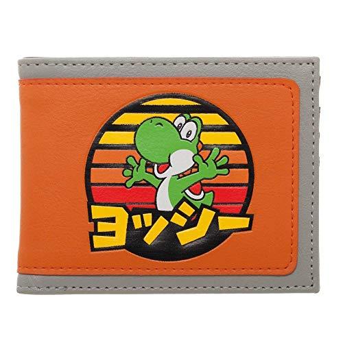 Super Mario Yoshi Japanese Logo Bi-Fold Wallet