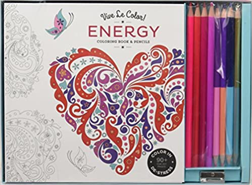 Energy Adult Coloring Book And Pencils Color Therapy Kit Abrams Noterie Original French Edition By Marabout 9781419720529 Amazon Books