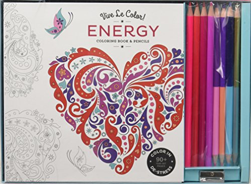 Vive Le Color! Energy (Adult Coloring Book and Pencils): Color Therapy Kit -