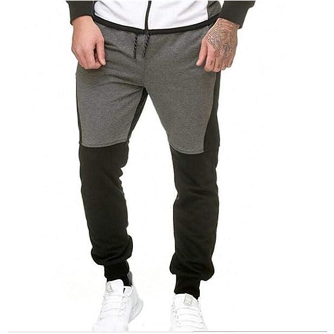 ... Hose BeiläUfig Fitnessstudio Fitness Trainingsanzug Bottoms Slim Fit  Chinos Schweiß MäNner SpleißEn Overall Tasche Sport Arbeit  Amazon.de   Bekleidung cfb6a995bb