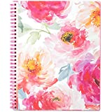 """2019 Planner - Planner 2019, Weekly & Monthly Planner, DIY 12 Monthly Tabs, Twin Wire Binding, Clear Cover Pockets, 8"""" x 10"""""""