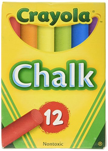 Tap Easel - Crayola Chalk, Assorted Colors, 3 X 12 Sticks Per Box (36 Chalks)