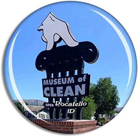 ポカテロミュージアムオブクリーンアイダホ米国冷蔵庫マグネット3Dクリスタルガラス観光都市旅行お土産コレクションギフト強い冷蔵庫ステッカー