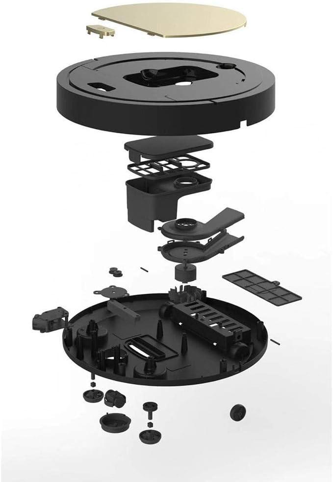 Robot Aspirateur Laveur Aspirateurs Robots Robot balayage, aspirateur à puce, la machine de nettoyage ménager, aspirateur intelligent paresseux (Color : Black) White