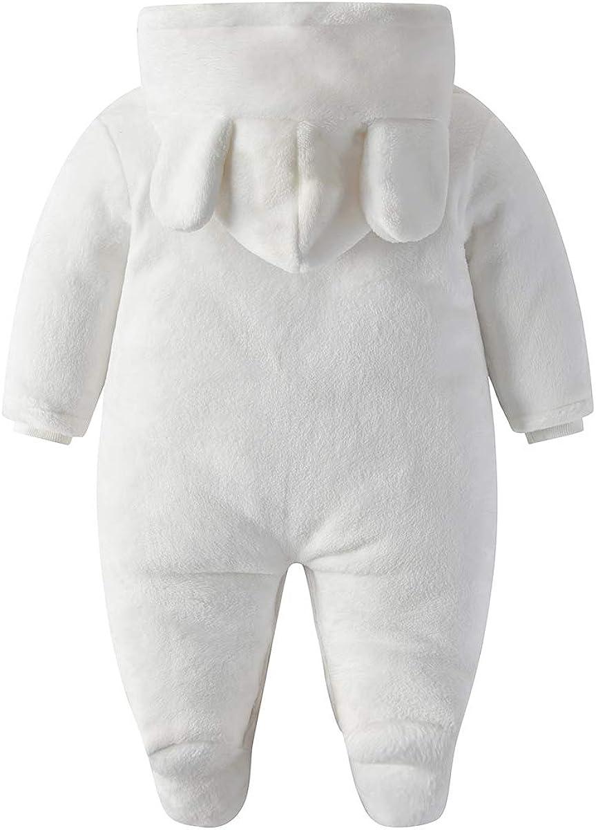 FERENYI Baby Boys Girls Winter Clothes Newborn Baby Snowsuit Babys Thick Polar Fleece Warm Hooded Romper Jumpsuit
