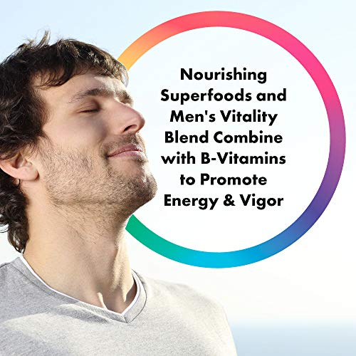 Rainbow Light - Men's One Multivitamin Non-GMO Bonus Size - Plus Superfoods, Probiotics, and Plant-Source Enzymes; Vegetarian and Gluten Free - 180 Tablets by Rainbow Light (Image #3)