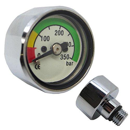 (Scuba Diving Pony Bottle Pressure Gauge w/ 350 BAR)