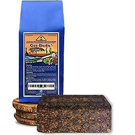 Organic, Anti-Bacterial, Anti-Fungal OSE-DUDU AFRICAN BLACK SOAP 1 LB (16 oz) BLOCK. Authentic, Handmade, Unscented Raw…