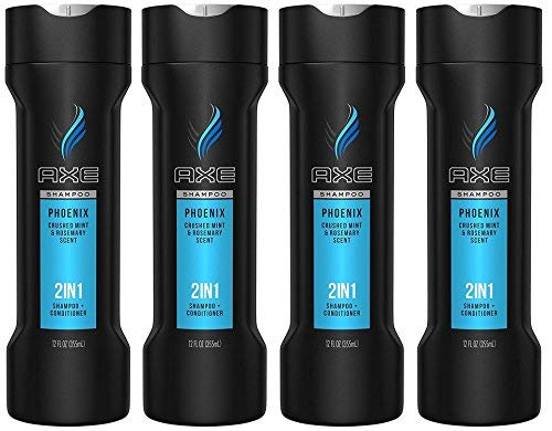 Axe 2-in-1 Shampoo Plus Conditioner, Phoenix, 12 Fluid Ounce (Pack of 4) by AXE