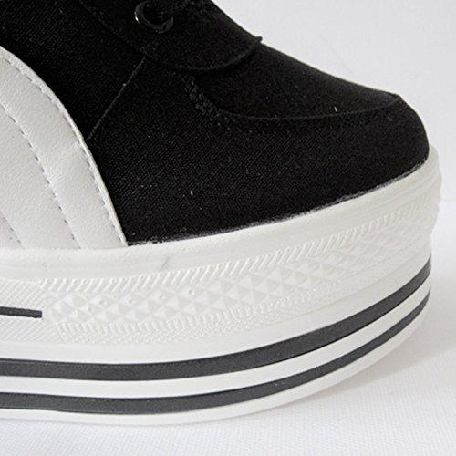 Vulcanisées Confortables Noir De amp;G Femelle Occasionnels NGRDX De Toile Chaussures Fond De Plat Baskets Dames Claire Femme Chaussures Couleur Respirant Sport Chaussures À dOdq1Hw