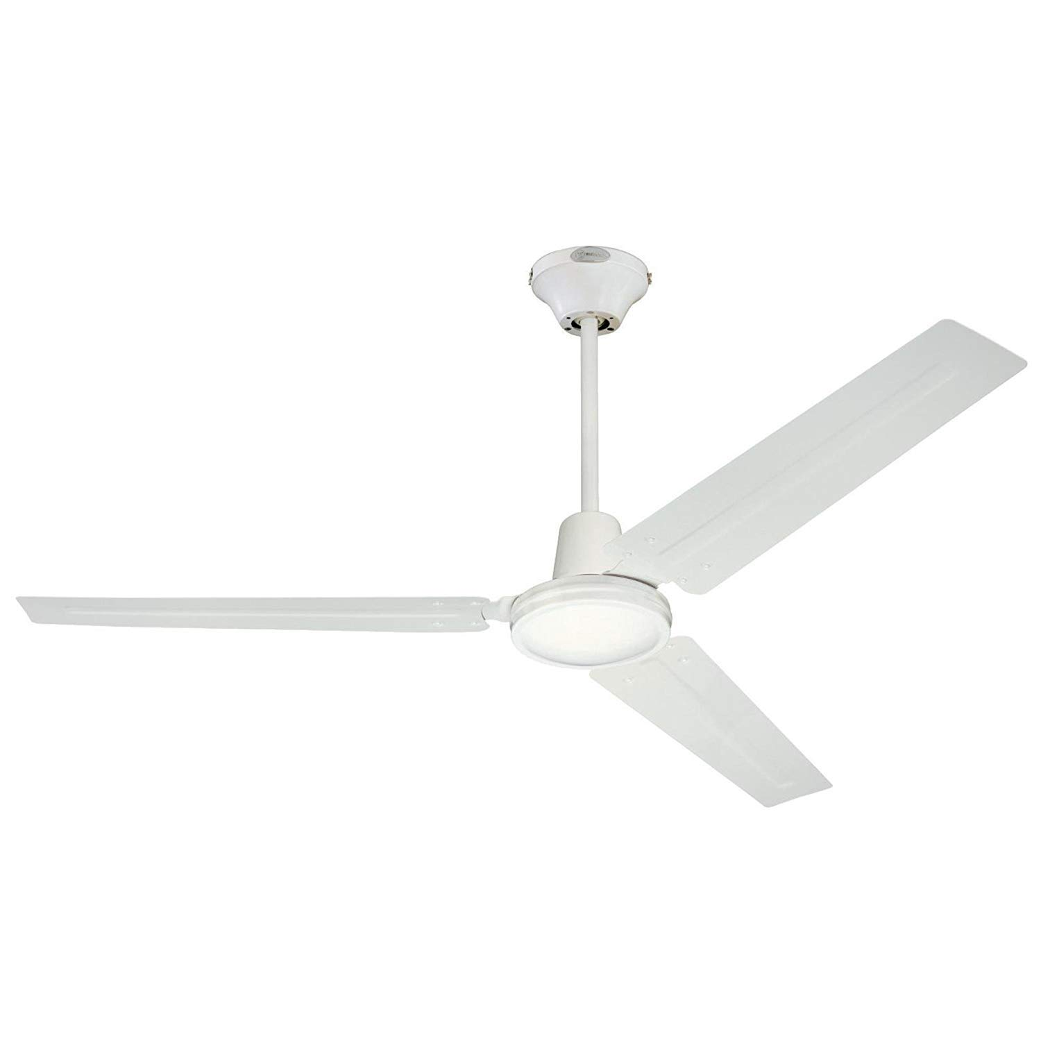 Fresh White Westinghouse 7812700 Industrial 56-Inch Three-Blade Indoor Ceiling Fan, White with White Steel Blades