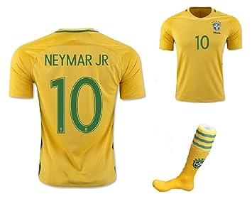 Wild Bunch 2014 FWC Brasil Neymar Jr Fútbol # 10 Camiseta Ropa De Deporte Team Polo