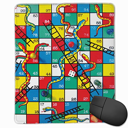 MVITUSFejr Snakes and Ladders Game Extended Gaming Mouse Pad -Non-Slip Water-Resistant Rubber Base Cloth Computer Mouse Mat