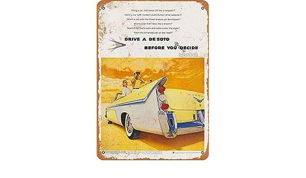 MNUT 1956 Drive a De Soto Before You Decidir - Señal metálica de ...